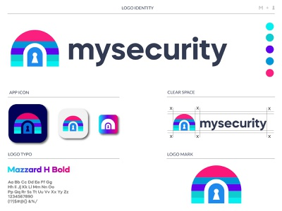 mysecurity brand identity privacy logo protection cryptocurrency vpn logo security cybersecurity design app design icon latter logo custom logo logo mark branding logo security app cyber security logo security system