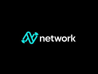 network logo design waves blockchain logo design identity crypto signal wireless connection tech icon wifi social network ui internet tech network icon latter logo custom logo logo mark branding logo