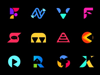 Best logo collection custom logo latter logo letter mark logo collection minimalist modern vector icons icon logo mark branding logo