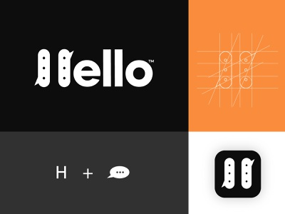 Hello logo symbol identity icon logotype brandmark branding identity lettering typography ui logo mark branding logo