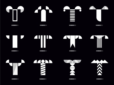 T abstract t collection identity custom logo mark ui type letter illustration app branding icon logo mark logo