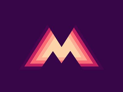 M logotype identity symbol vector modern latter logo illustration icons icon logo mark logo branding m