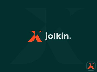 jolkin logo minimal monogram identity band jk logo latter logo logo design vector icon symbol design illustration logo mark branding logo