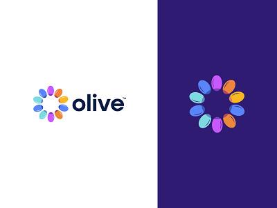 olive logo Branding minimal vector monogram symbol identity oliveoil olive food illustration custom logo icon logo mark branding logo