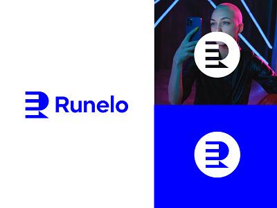 Runelo logo (R+E) icon mark monogram illustration symbol logotype band identity logo mark branding logo