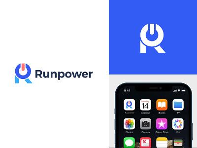 Runpower logo | Technology app symbol software technology tech marketing agency app icon icon logo mark fixdpark design logotype logodesign brand identity branding logo