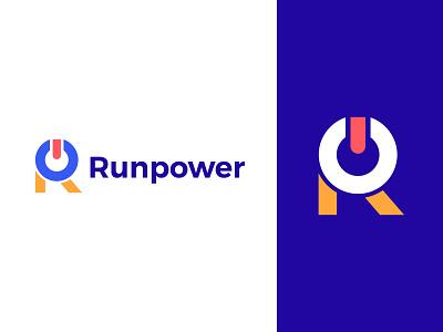 Runpower logo minimal identity logos monogram symbol brand vector design icon logo mark branding logo