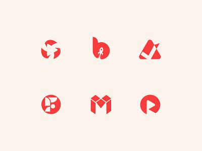 flat logos collection logofolio logomark logos monogram mark design flat symbol logotype identity icon logo mark branding logo