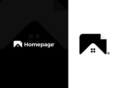 Homepage logo custom logo simple modern abstract logos symbol website technology logotype illustration mark monogram typography icon identity logo mark branding logo