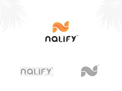 nalify startup custom lettering typography identity designer mark logos logo designer brandmark branding icon logo mark latter logo custom logo design identity letter monogram symbol wordmark logo