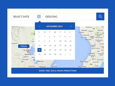 Trip Planner Widget date map flat minimal creative search design web website widget calendar planner