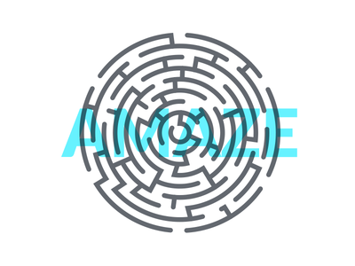 Amaze hip minimal clean cool art line branding tshirt tee maze