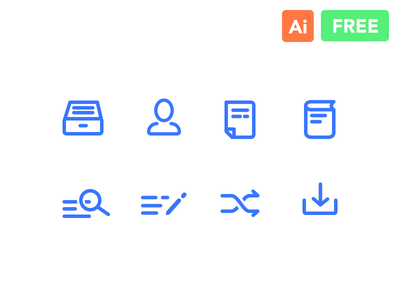 Line Icons Freebie (Search, People, Book, Download) write mobile document people book read search archive freebie free icons line