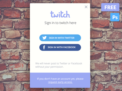 Login Widget Freebie mobile ux ui website design psd freebie free twitter facebook social login
