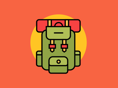 Camping Bag Icon freebie equipment camping bag icon free