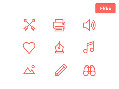Free Icons search love like pen freebie icons speaker sound arrow print
