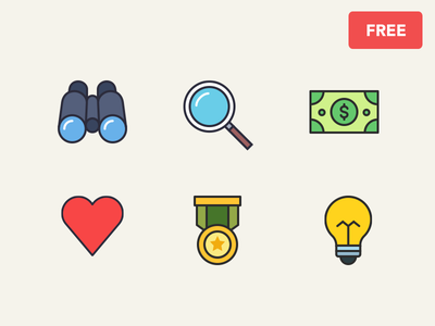 Free Icons freebie free icons business idea medal like love heart find search money