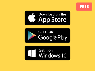 App Store Buttons windows play google apple badge it get on available buttons store app