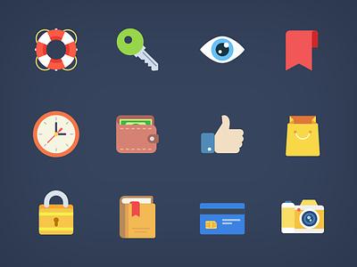 Weekly Free Flat Icons webdesign free icons app website ui freebie flat icons icon free