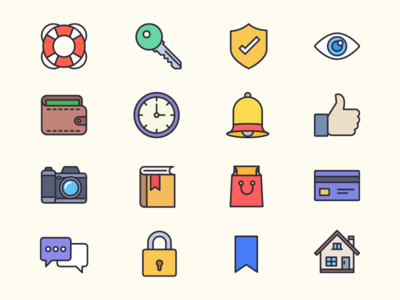 Weekly Free Filled Outline Icons