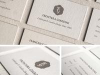 Brand identity for Frontera Giardini in Florence.