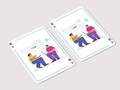 Playing Card Illustration mobile ui app web website icon art ux vector design animation illustration graphic design branding illustrator