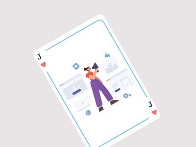 Playing Card Illustration web ui website ux illustrator graphic design design branding animation illustration