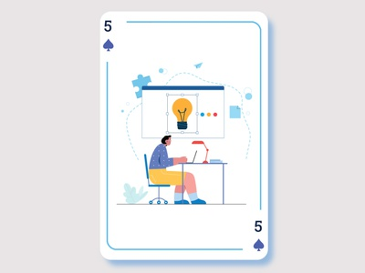 Playing Card Illustration graphic design ux web illustration app ui vector design illustrator branding