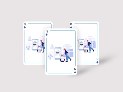 Playing Card Illustration icon website vector ui ux illustration illustrator design graphic design branding