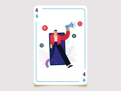 Playing Card Illustration website web ui ux illustration design graphic design branding vector illustrator
