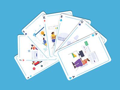 Playing Card Illustration animation website ux vector ui illustration illustrator design graphic design branding