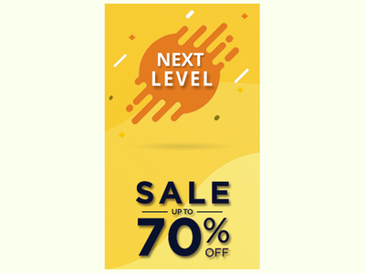 Next Level Sale Banner Illustration icon website vector ui ux illustrator illustration graphic design design branding