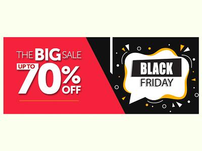 Black Friday Sale Banner icon website vector ui ux illustrator illustration graphic design design branding