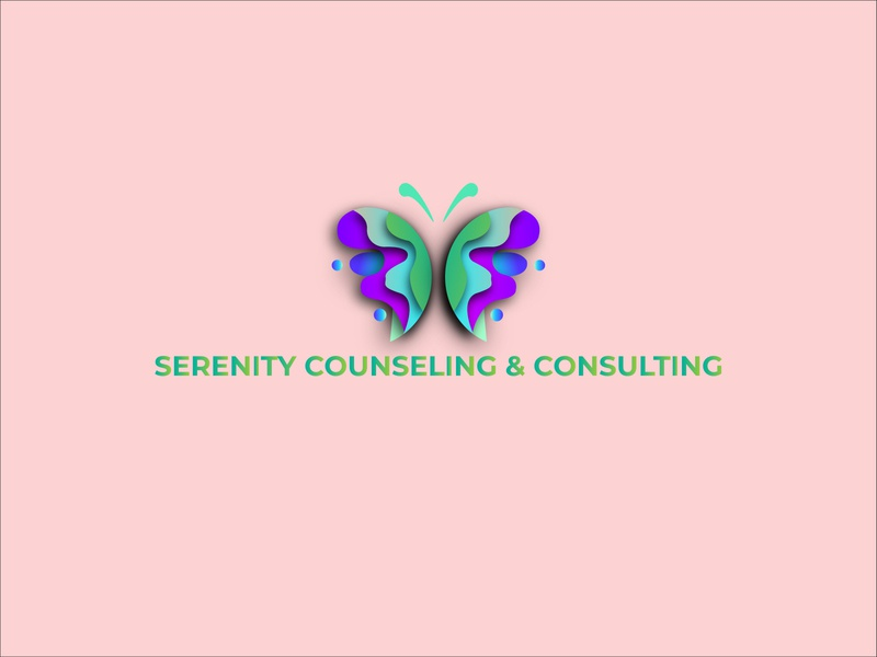 Serenity Counseling and Consulting 02 vector illustrator logo graphic icon branding illustration logo design logodesign design