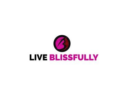 Live Blissfully logo illustration minimal vector icon graphic branding logo design logodesign logo design