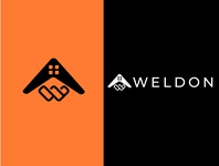 Wldone property consultant logo design minimal typography vector illustrator illustration logo branding logodesign logo design design