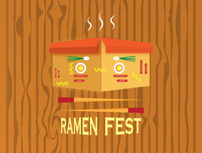 Ramen slurp soup ramen design japan food illustration vector