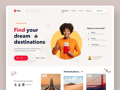 Travel Agency Website web design website landing page travel website uiux homepage adventure explore travel travel blog travel agency community travel app travelling travel web colarful nature travel packages travel guide trip planner