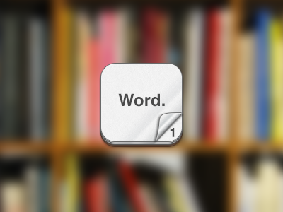 Word Count iphone app icon count word number words