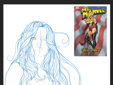 Miss Marvel 2 illustrator digital art women digital illustration clip studio paint digitalart comic art comic