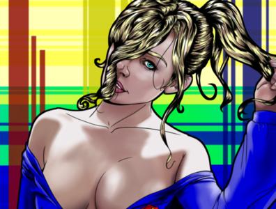 70's Supergirl adobe illustrator design digital illustration comic book comic art digital art illustration women sexy clip studio paint