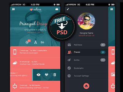 Mobile UI (Free PSD) free download mobile ui app psd user interface
