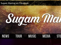 Music Band Artist Web front page