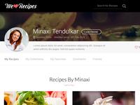 Profile Page - WeLoveRecipes - UI design