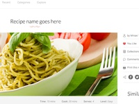 Recipe Details Page - WeLoveRecipes web UI design project