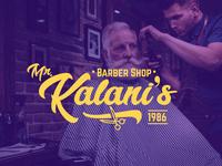 Kalani S Barber Shop Logo