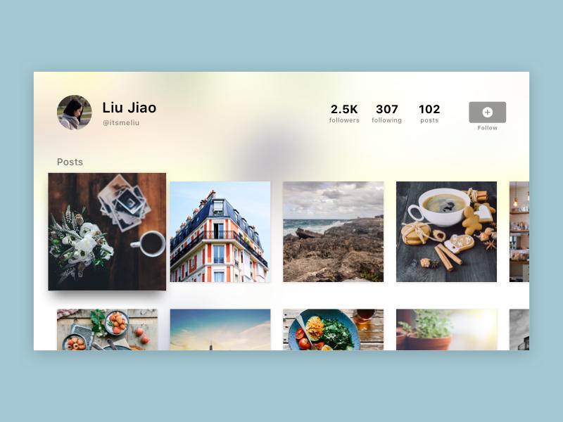 Daily UI 025 — TV App blur user profile profile simple ux ui app tvos tv daily ui daily ui 025
