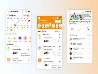 Calendar App meeting team calendar design tasks calendar ui ux design app design app
