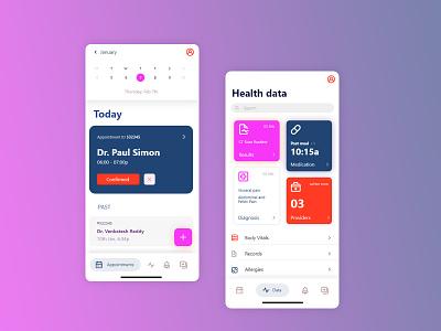 Health Monitoring App reminder app fitness app health app ui ux design app design app