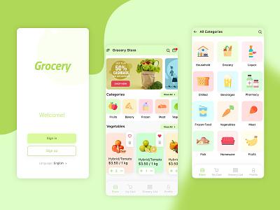 Grocery App shopping app shopping grocery groceryapp ui ux design app design app